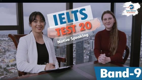 IELTS NATIVE SPEAKING TEST 20